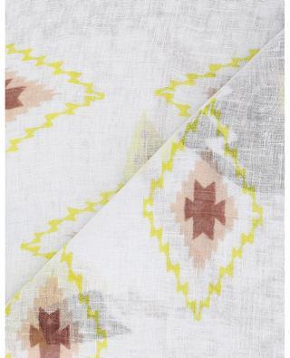 Foulard en lin imprimé plumes Gaia STORIATIPIC
