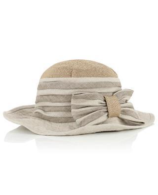 Chapeau asymétrique avec noeud GREVI