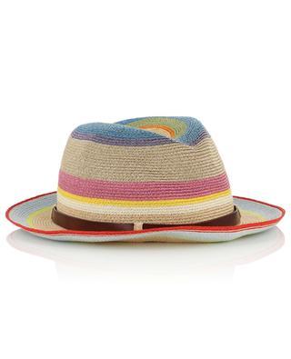 Chapeau rayé multicolore en chanvre de Manille GREVI