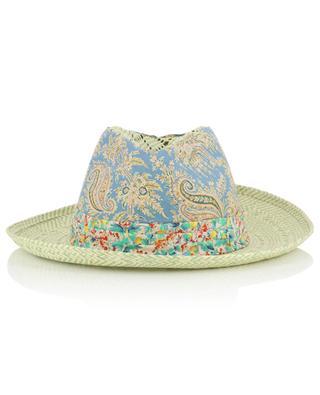 Chapeau en papier orné de tissu GREVI