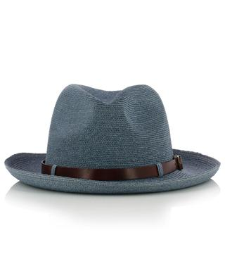 Chapeau en chanvre de Manille détails cuir GREVI