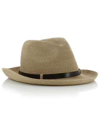 Manila hemp hat with leather details GREVI
