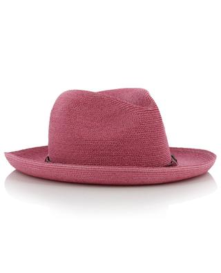 Manila hemp hat with leather details GREVI