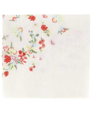 Tulika flower embroidered linen stole GAYNOR