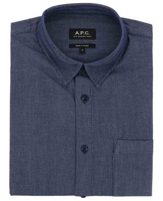 Cotton short-sleeved striped shirt A.P.C.