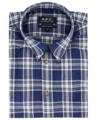 Chemise à carreaux en coton A.P.C.