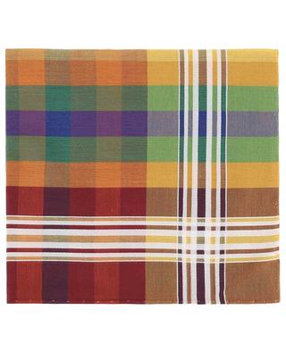 Madras check cotton pocket square SIMONNOT GODARD