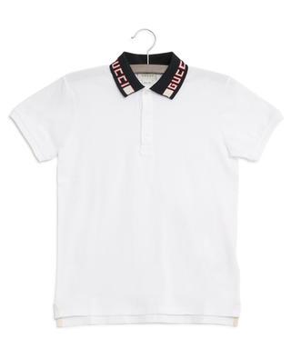 Gucci logo print collar polo shirt GUCCI