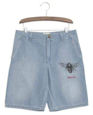 Short en jean abeille GUCCI