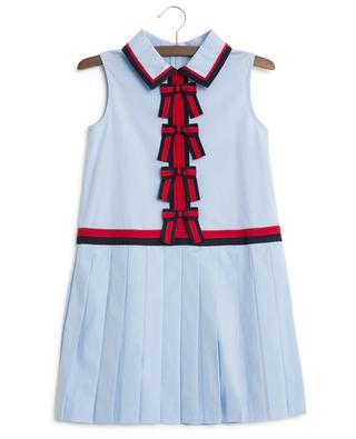 Web bows popline dress GUCCI