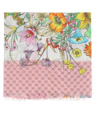 Geblümtes Halstuch aus Modal und Baumwolle GG Bouquet GUCCI