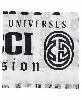 Logomania modal and cotton shawl GUCCI
