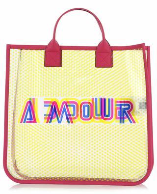 Gucci Amour transparent vinyl tote bag GUCCI