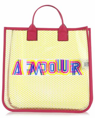 Shopper aus transparentem Vinyl Gucci Amour GUCCI
