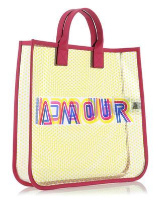 Shopper aus transparentem Vinyl Gucci Amour GUCCI