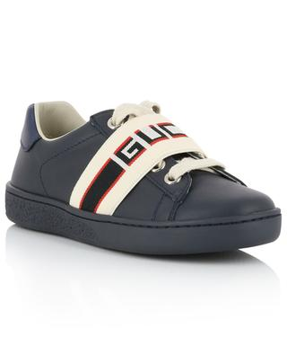 Ace Gucci Stripe leather sneakers GUCCI