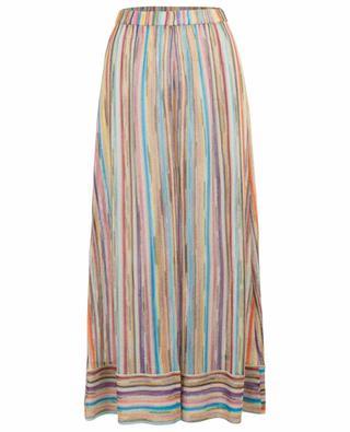 Rainbow colour wide-leg knit trousers MISSONI MARE