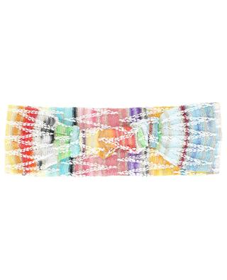 Multicolour knit hairband with zigzag pattern MISSONI MARE