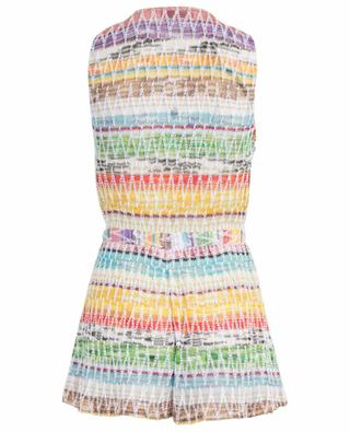 Striped zigzag patterned knit playsuit MISSONI MARE