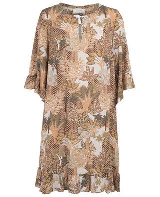Printed cotton midi dress URSULA ONORATI