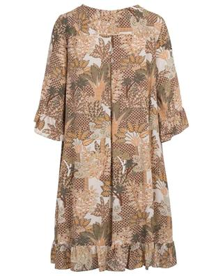 Printed cotton midi dress URSULA ONORATI