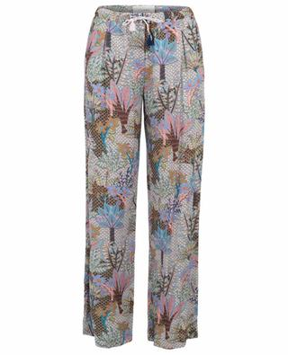 Printed cotton wide-leg trousers URSULA ONORATI
