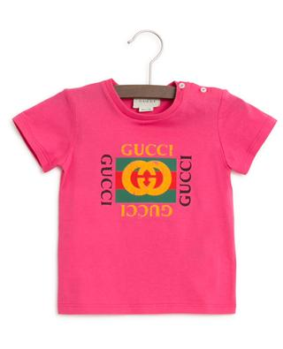 Vintage Logo T-shirt with buttons GUCCI