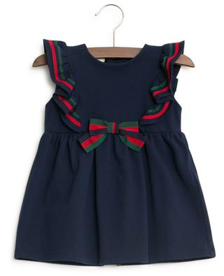 Web piquéd cotton dress GUCCI