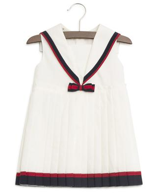 Web bow pleated dress GUCCI