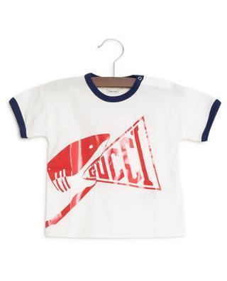 T-Shirt mit Haiprint GUCCI