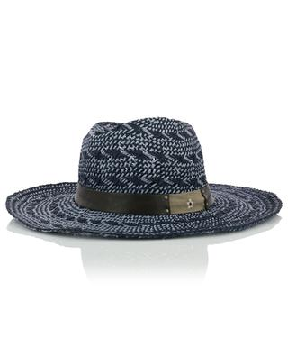 Bicolour hat with leather band GI'N'GI