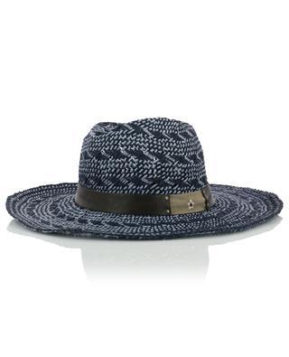 Bicolour hat with leather band GI'N'GI
