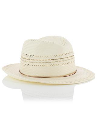 Chapeau ajouré tressé en papier GI'N'GI