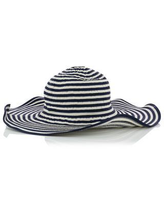 Striped hat with large brim GI'N'GI