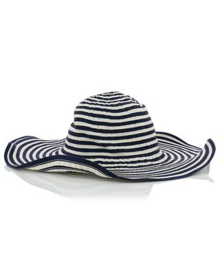 Striped hat with large brim GI'N'GI