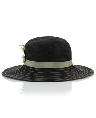 Chapeau orné de plumes et d'une épingle à chapeau GI'N'GI