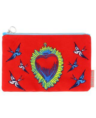 Small Amor Red velvet pouch CORITA ROSE