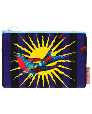 Small Bird velvet pouch CORITA ROSE