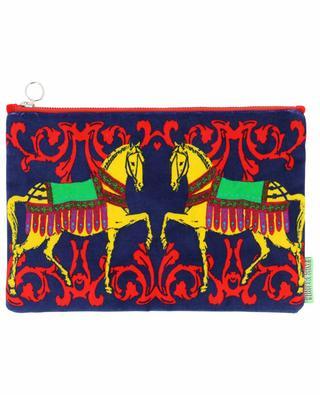 Large Horses velvet pouch CORITA ROSE