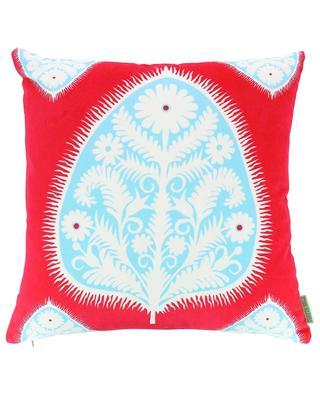 Gypsy Leaf velvet cushion CORITA ROSE