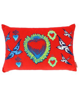 Amor Red velvet cushion CORITA ROSE