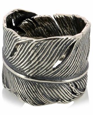 Verstellbarer Feder-Ring aus Silber Chayan DASQUE