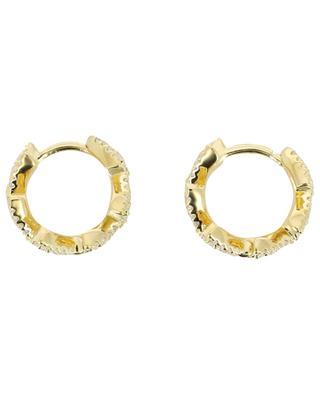 Laurel Leaves silver hoop earrings APM MONACO