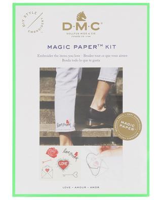 Kit de broderie Magic Paper Amour DMC