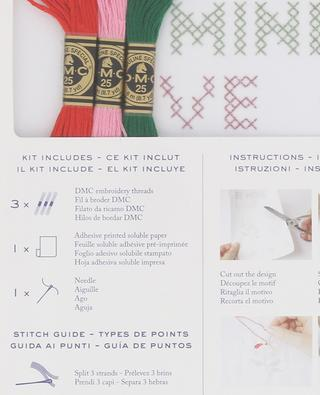 Magic Paper Amour cross stitch embroidery set DMC