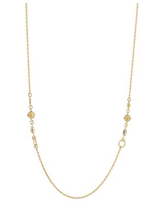 Tresse golden crystal embellished necklace GAS BIJOUX