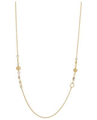 Tresse golden crystal embellished necklace GAS BIJOUX