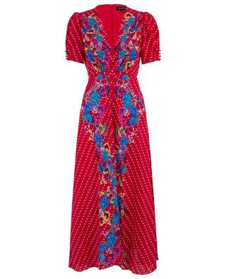 Robe longue ornée de pois et de fleurs Lea SALONI