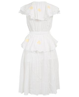 Sailor Wrap Fürlunche ruffled embroidered dress INNIKA CHOO