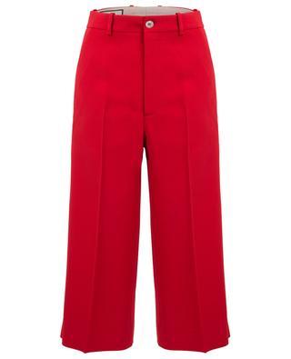 Web viscose culotte trousers GUCCI
